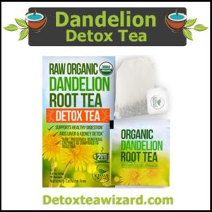 Raw organic dandelion root detox tea