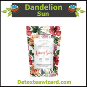 Dandelion sun beauty tea hibiscus glow