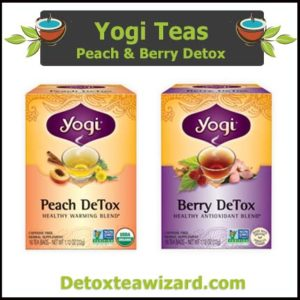 Yogi detox tea benefits ofTwo Pack - Peach and Berry detox