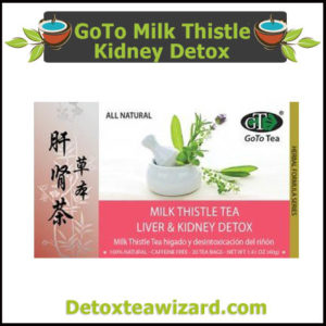 GoTo Milk Thistle Tea Liver and Kidney Detox