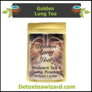 Golden lung detox tea and smokers tea