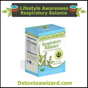 Lifestyle Awareness Respiratory Balance lung detox Tea