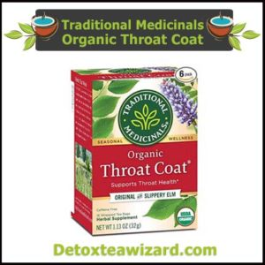 Traditional Medicinals Organic Throat lung detox Tea