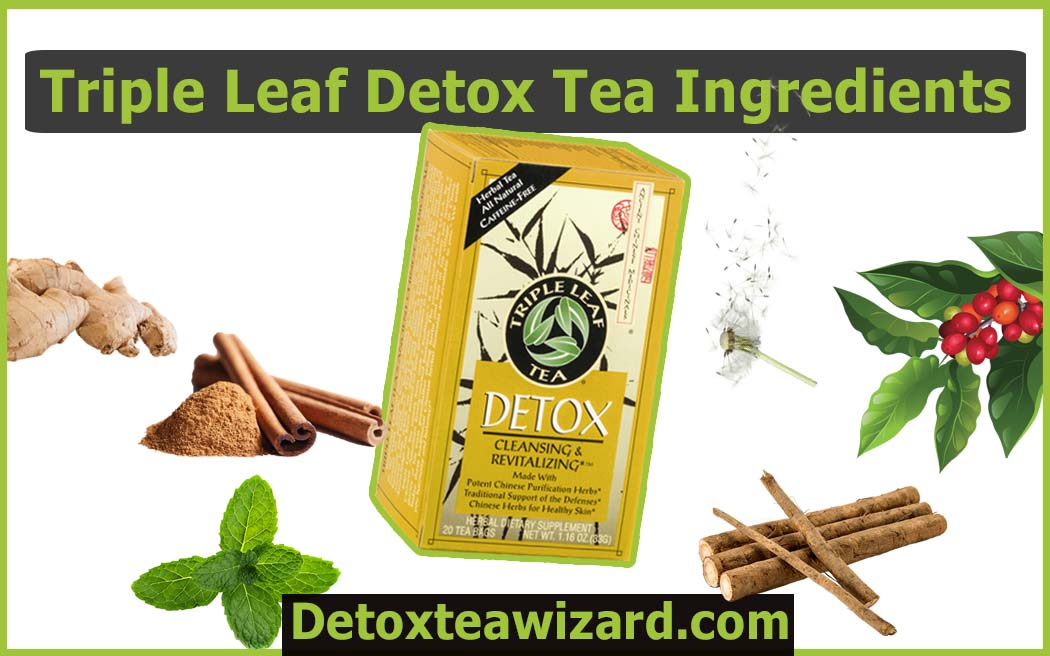 Triple leaf detox tea ingredients by detoxteawizard